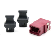 Magenta Reduced Flange SC Footprint MTP Adapter w/ 2 Dust Caps