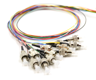 FC Pigtails 12 Fiber MM50 10Gb OM3 Multi Color, 3Meters