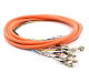 FC Jacketed 12Pk MM62.5 Orange Jacketed Fiber Pigtails, 3 Meter