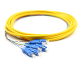 SC Jacketed 6 Pk SM Yellow Jacketed Fiber Pigtails, 3 Meters