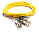 ST Jacketed 12Pk SM Yellow Jacketed Fiber Pigtails, 3 Meters