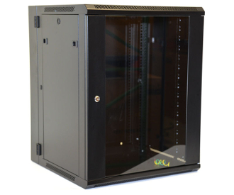 15U Wall Mount Enclosure - Glazed Door - 600mm X 450mm - DBL