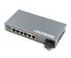 6 Port Fiber Switch 10/100 RJ45 to 1 Fiber Port, Singlemode 25km