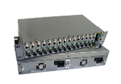 14 Port Chassis Media Converter 48V(dual power)
