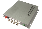 4 Channel Video Fiber Optic Converter with Data