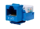 Cat6 Keystone Jack, Tooless type Keystone Jack - Blue
