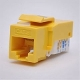 Cat6 Keystone Jack, Tooless type Keystone Jack - Yellow