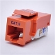 Cat6 Keystone Jack, Tooless type Keystone Jack - Orange