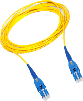 2M LC Uniboot Duplex Plenum Jacket Fiber Optic Patch Cable