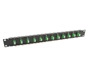 1U 12 Port Adapter Plate - 12 LC-APC Green SM