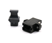 Black Standard Footprint MTP Connector Adapter with Full Flange and 1 Dust cap