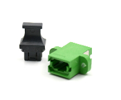 Green Full Flange Std. Footprint MTP Adapter w/ 1 Dust Cap