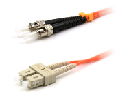 ST TO SC MULTIMODE 62.5 OM1 FIBER OPTIC PATCH CABLE