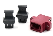 Magenta Full Flange Std. Footprint MTP Adapter w/ 2 Dust Caps