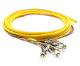 FC Jacketed 12Pk SM Yellow Jacketed Fiber Pigtails, 3 Meters