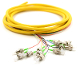 FC-APC Jacketed 12Pk SM Yellow Jacketed Fiber Pigtails, 3 Meters