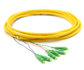 LC-APC Jacketed 6 Pk SM Yellow Jacketed Fiber Pigtails, 3 Meters