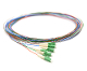 LC-APC Pigtail 6 Fiber SM Multi Color Fiber Pigtails, 3 Meters