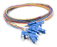 SC 12 Fiber SM Multi Color Fiber Optic Pigtails, 3 Meters