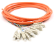 SC Jacketed 12Pk MM62.5 Orange Jacketed Fiber Pigtails, 3 Meter