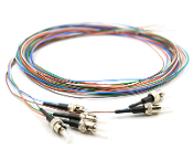 ST Pigtail 6 Fiber MM50 10Gb OM3 Multi Color Pigtails 3 Meters