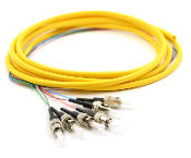 ST Jacketed 6 Pk SM Yellow Jacketed Fiber Pigtails, 3 Meters