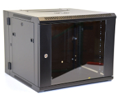 9U Wall Mount Enclosure - Glazed Door - 600mm X 450mm - DBL