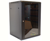 18U Wall Mount Enclosure - Glazed Door - 600mm X 450mm - SGL