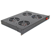 Cooling Fan Assembly for Network Racks - 4 Fans, 1U