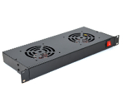 Cooling Fan Assembly for Network Racks - 2 Fans, 1U